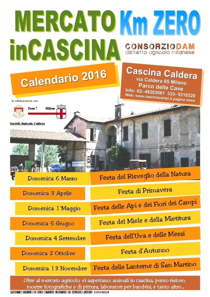 Calendario aperture CALDERA 2016