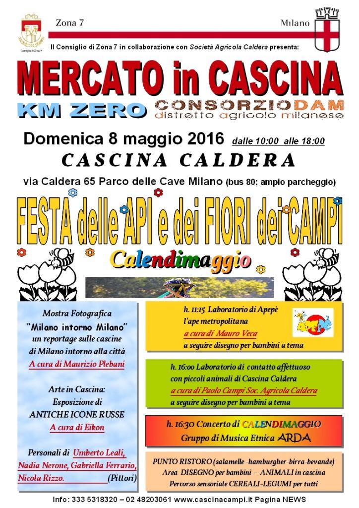 CALDERA Locandina 8 Maggio Festa delle Api e dei Fiori dei Campi