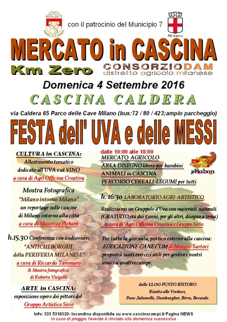 CALDERA Locandina 4 Settembre 2016 Festa dell'UVA e delle MESSI new logo