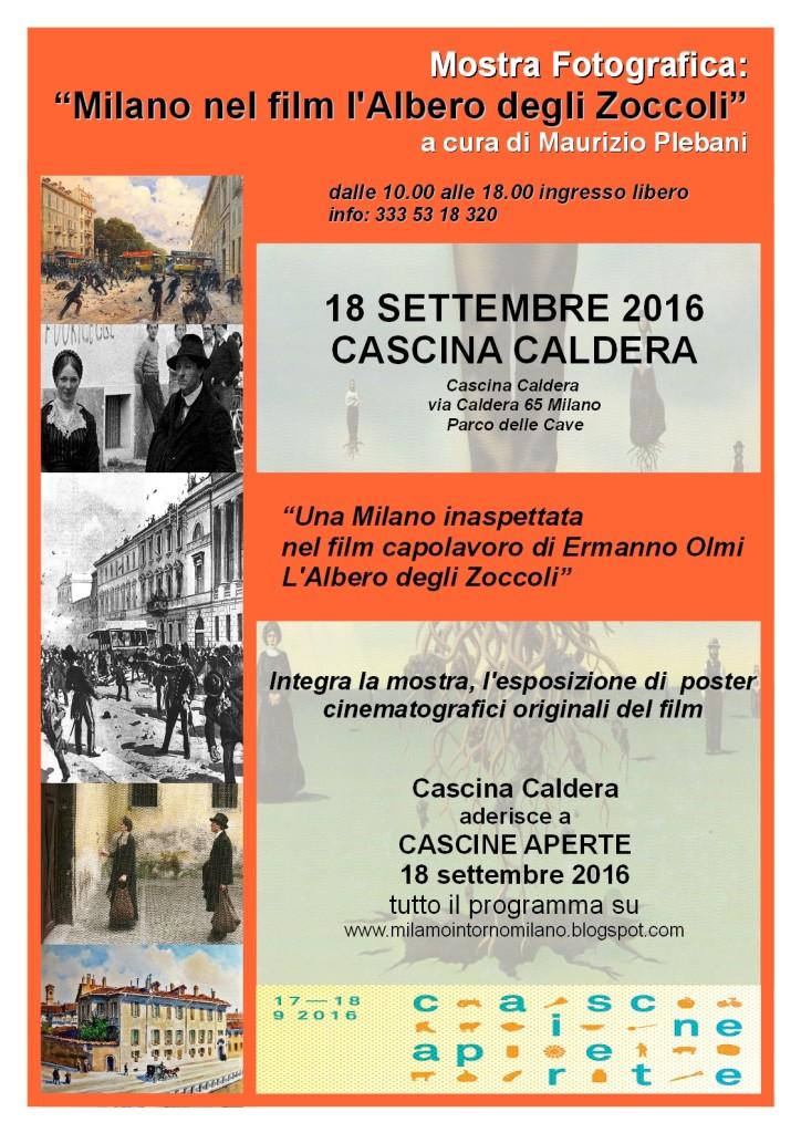 CALDERA Locandina Mostra Milano nel film l'Albero degli Zoccoli