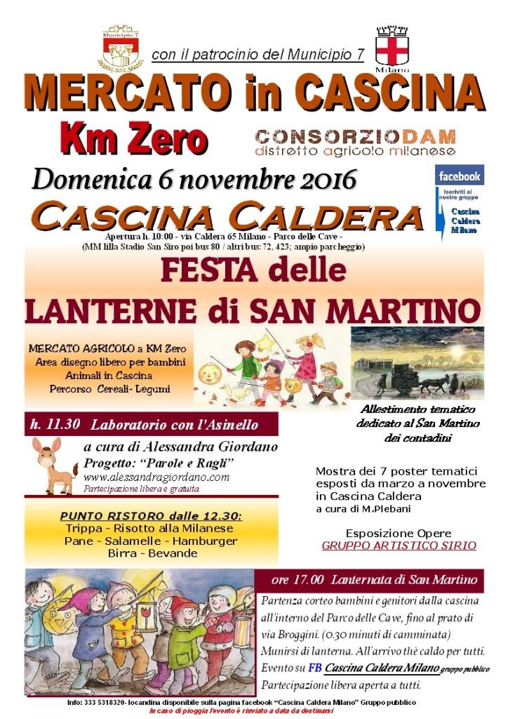 CALDERA Locandina 6 Novembre  2016 Festa delle Lanterne di San Martino